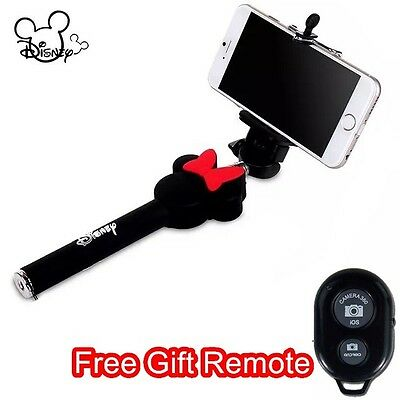 Disney Minnie Mouse Selfie Stick Telescopic Monopod + Clip + Free Gift Remote