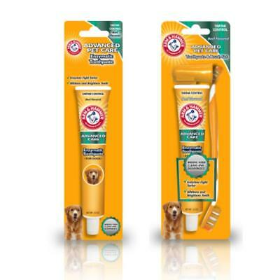 Arm & Hammer Dental Care Dog Puppy Pet Toothbrush Toothpaste Set Beef Flavour