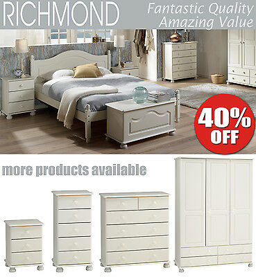 Richmond White Furniture Range with metal runners