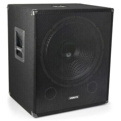 "Skytec 18"" Powered Active Subwoofer Bass Boost Bin DJ Disco PA Sub Speaker 1000W"
