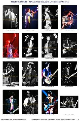 Rolling Stones Photos 4x6 inch Set of 16 Fuji Prints '70 Vintage Live Concert V1