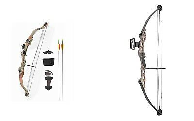 ASD Right Handed Camo Archery Compound Bow Set 20, 25 or 55 lbs Child - Adult