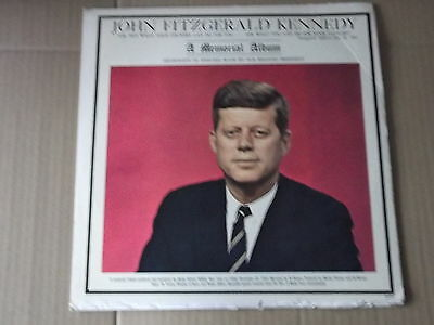 JOHN FITZGERALD KENNEDY - A MEMORIAL ALBUM LP narated by ed brown