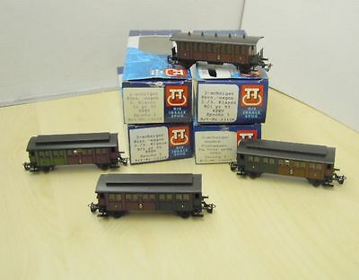 Tillig 13124,2 x 13126,13446 In set 4 Piece 2 axil compartment wagon KPEV Ep.1