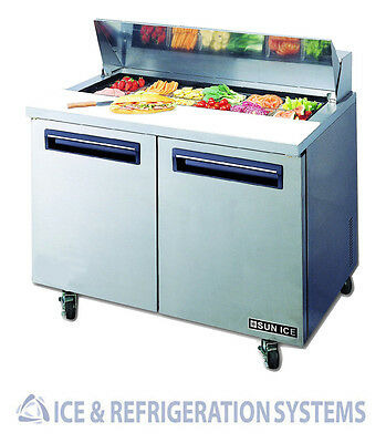 "Sun Ice   48"" Commercial Salad & Sandwich Refrigerator Prep Table Cooler"