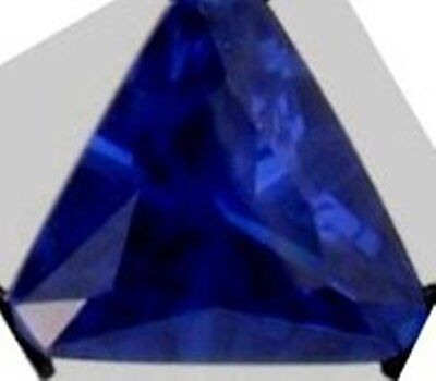 2 ct Blue Triangle VintageTop Russian Quality CZ Sapphire Simulant 8 x 8 mm