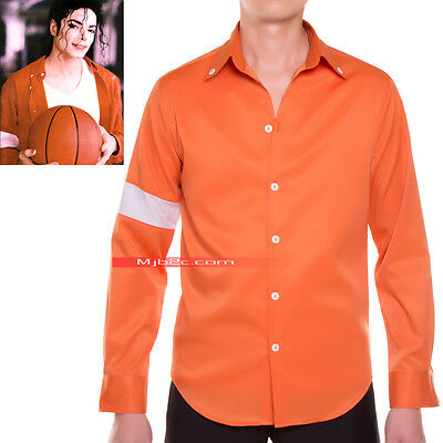 Michael Jackson Costume Jam Armband Shirt Orange