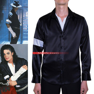 Michael Jackson Costume Black Or White  Armband Shirt Black