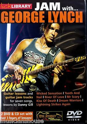 LICK LIBRARY Learn to Play JAM WITH GEORGE LYNCH Wicked Sensation Hit GUITAR DVD