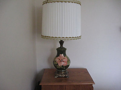 Moorcroft Hibiscus Table Lamps