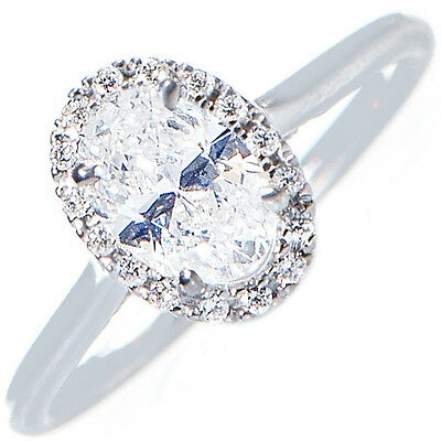 GIA Certified Oval Cut Diamond Engagement Ring 1.70ctw Vintage Style in Platinum