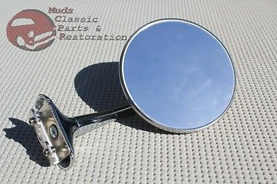 Custom Side Mount Outside Curved Arm Rearview Mirror Antique Classic Car Truck