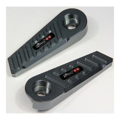 "Foot Pegs -  Stage6 SSP type ""CNC"", MBK Booster / Yamaha BWs - Steel Gray"