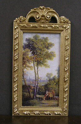 FRAMED - PICTURE  ~ Handcrafted ~ JIM COATES ~ Dollhouse Miniature~ 1:12 scale