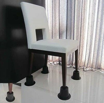 Cone Chair Risers Feet Leg Lift Furniture Extra Raisers Stand Disability Aid 4no