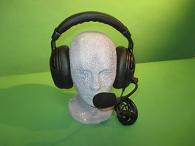 1 - New BL TB TOM COM headset 2 MUFF CLEAR COM radio eartec TYPE 4 pin wired