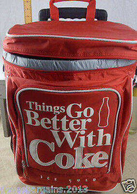 Coca Cola 48 Can Soft Sided Rolling Cooler Bag