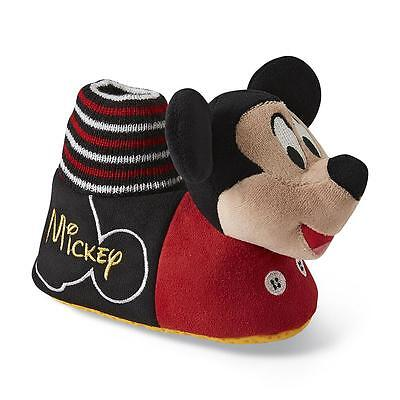 Disney Toddler Boy's/Girl's Mickey Mouse Red/Black Slippers/Shoes-Sizes 5-12