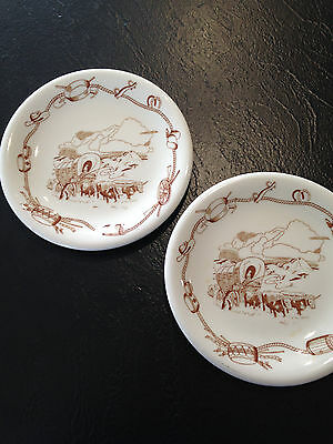 Rare Sterling Gold Rush Gear Bread Plate set of 2