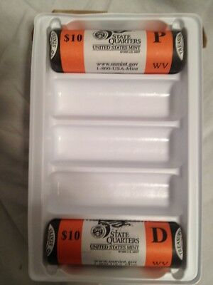 2005 WEST VIRGINIA MINT WRAPPED P&D ROLLS R47 SEAL BOX