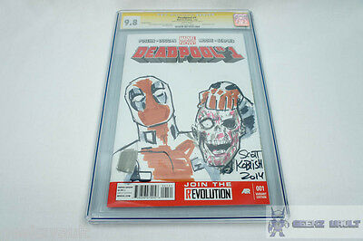 Deadpool #1 Signed and Sketched by Scott Koblish CGC Signature Series 9.8 Graded