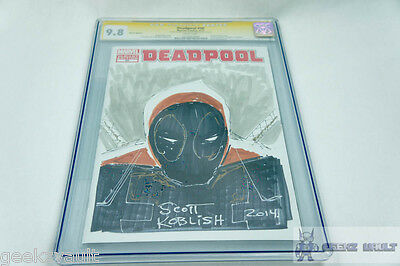 Deadpool #50 Signed Sketched by Scott Koblish CGC Signature Series 9.8 Graded