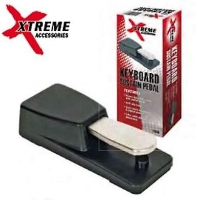 XTREME Keyboard Piano-style damper pedal, built in polarity switch