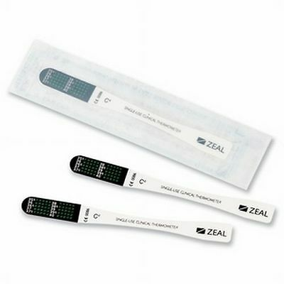 10 x EZEtemp Zeal Disposable Thermometer Single Use First Aid, Nurseries