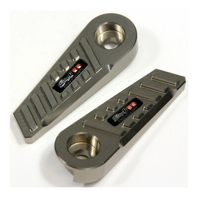 """Foot Pegs -  Stage6 SSP type """"CNC"""", MBK Booster / Yamaha BWs - Titan Look"""