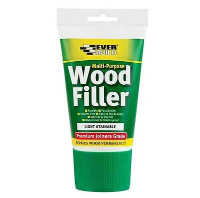 Everbuild Multi Purpose Joiners Grade Wood Filler Light Stainable Paintable 100m