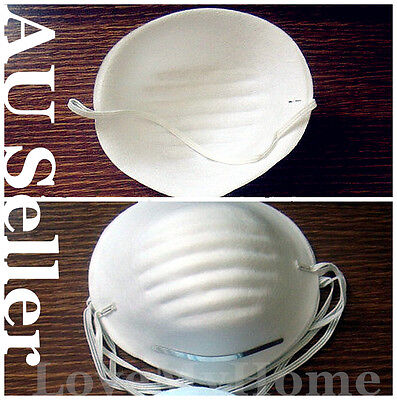 100pcs Disposable Cleaning Molded Face Nuisance Dust Mask Respirator TMASK01x100