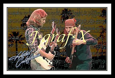 Don Felder & Joe Walsh - Hotel California - Eagles Poster - Really Cool Artwork!