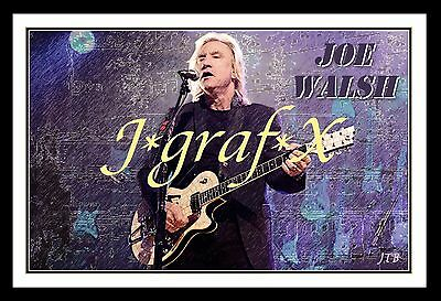 JOE WALSH Life's been good; EAGLES, JAMES GANG - PORTRAIT POSTER - COOL ARTWORK!