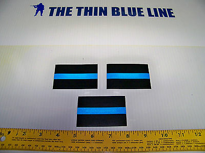 "Thin Blue Line Products - REFLECTIVE 2"" X 3"" DECAL - SET OF THREE FREE SHIPPING!"