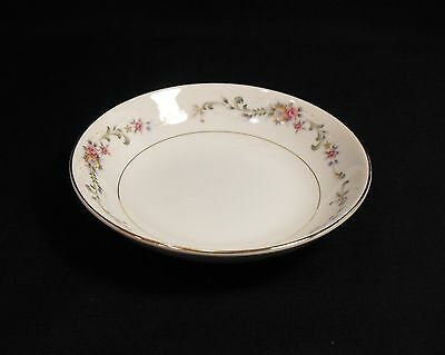 Acsons Diamond China Limoge Japan Soup Cereal Bowl Floral Spray on Lip Gold Trim