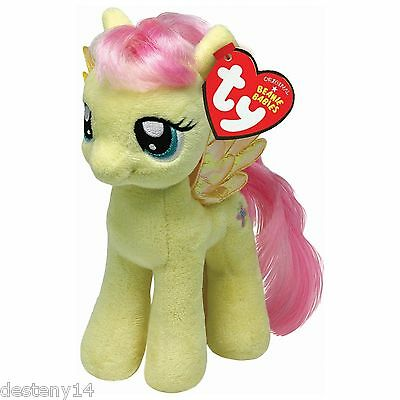 TY My Little Pony Beanie Babies Fluttershy Stuffed Animal Plush Collectible Toy