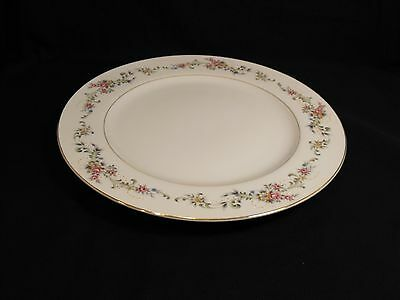 Acsons Diamond China Limoge Japan DINNER PLATE  Floral Spray Gold Trim