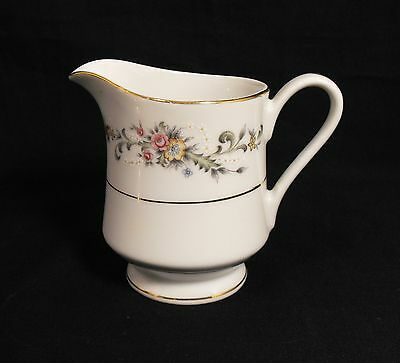 Acsons Diamond China Limoge Japan Footed COFFEE CREAMER Floral Spray Gold Trim