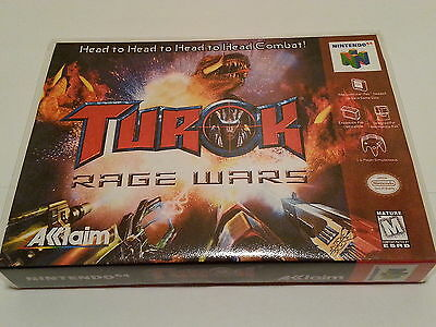 Turok Rage Wars High Quality Custom Collector N64 Case Only