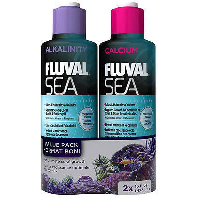Fluval Sea Alkalinity and Calcium - 473ml Twin Pack