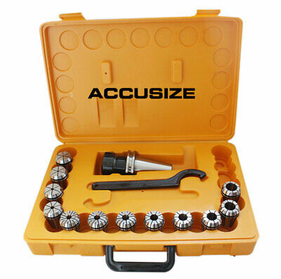 CAT40 12 Pcs ER32 Collet Set with Wrench in Fitted Strong Box, #CT40-ER32