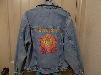 Cirque Du Soleil Embroidered Jean Jacket International Denim Men's Size Medium