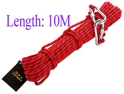 8mm Safety Climbing Rope Rappelling Rope Auxiliary Rope Outdoor Gear 9KN Rally