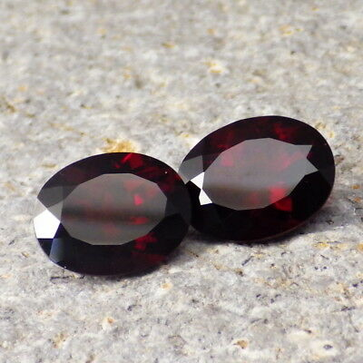 UMBA RIVER GARNET-TANZANIA TW 6.43Ct FLAWLESS-PERFECT MATCHING PAIR-TOP JEWELRY!