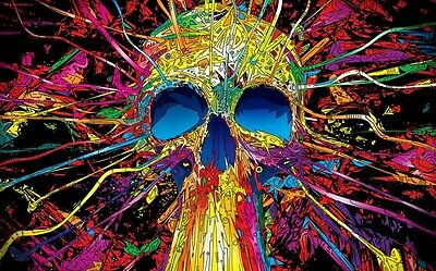 "Psychedelic Trippy Art Silk Cloth Poster 40 x 24"" Decor 07"