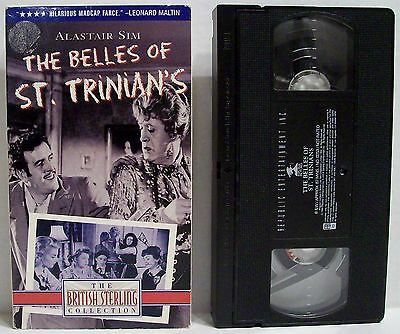 The Belles of St. Trinian's 1955 VHS Alastair Sim in Dual Roles British Comedy