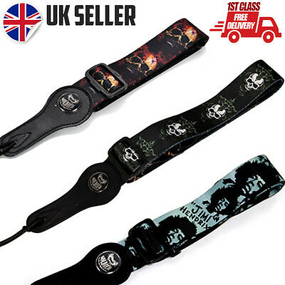 Guitar Strap Skull & Various Designs - Electric, Acoustic, Bass