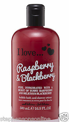 I Love... Raspberry & Blackberry Bubble Bath And Shower Creme 500ml