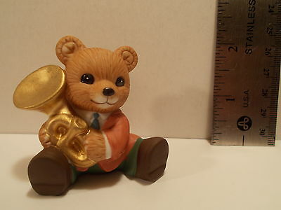 Vintage Homco Bear Playing a Trumpet