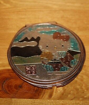 Metal HELLO KITTY Compact Cosmetic Mirror - Japanese, Colorful 2.75in